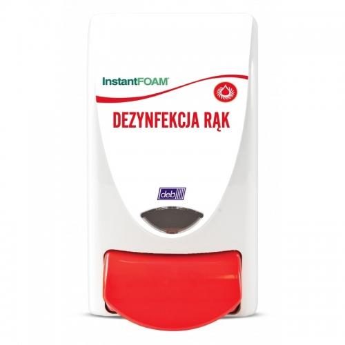 Dozownik DEB do preparatów przeznaczonych do dezynfekcji dłoni opis w języku polskim) - pojemność 1 litr