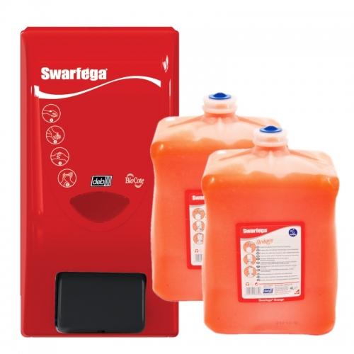 Zestaw promocyjny: 2x Swarfega® Orange (4l) + dozownik